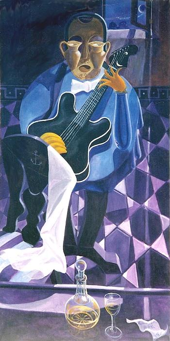 B B King Painting - Romancing Lucille by David G Wilson