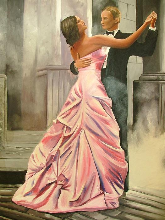 People Painting - Romantic Dance by Shabnam Zafarmand