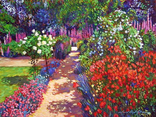 Impressionism Painting - Romantic Garden Walk by David Lloyd Glover
