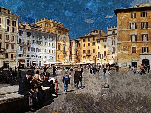Rome Photograph - Rome - Piazza Della Rotunda by Jen White