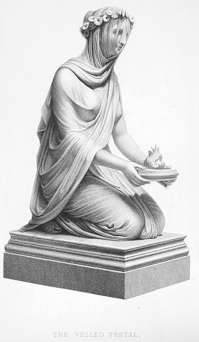 Ancient Photograph - Rome: Vestal Virgin by Granger