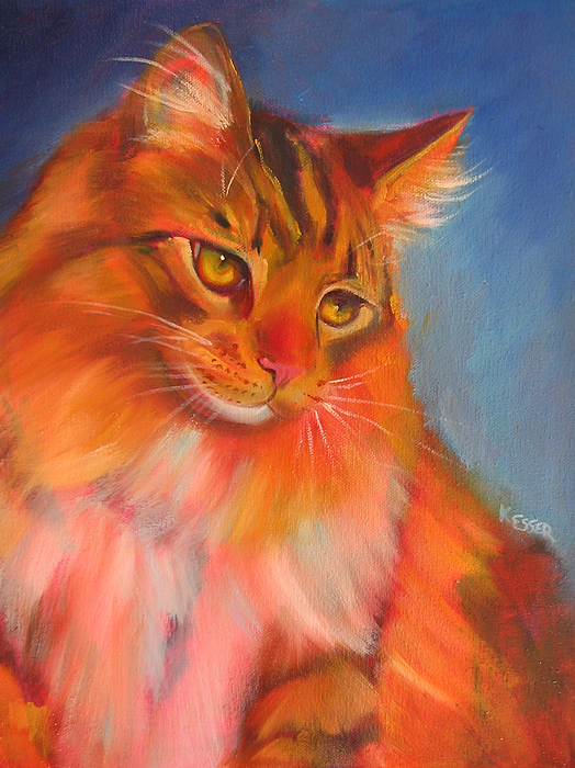 Maine Coon Cat Painting - Romeo by Kaytee Esser