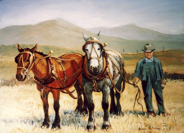 Horse Painting - Ron Robison by JoAnne Corpany