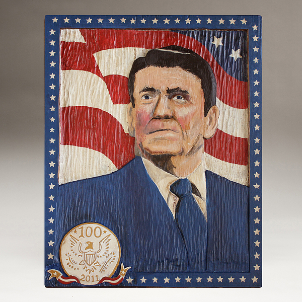 Reagan Painting - Ronald Reagan Centennial Celebration by James Neill