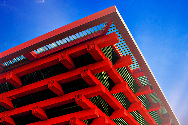 Chinese Pavilion Photograph - Roof Corner - Expo China Pavilion Shanghai by Christine Till