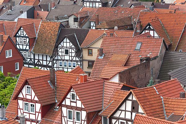 Deutschland Photograph - Roofs Of Bad Sooden-allendorf by Heiko Koehrer-Wagner