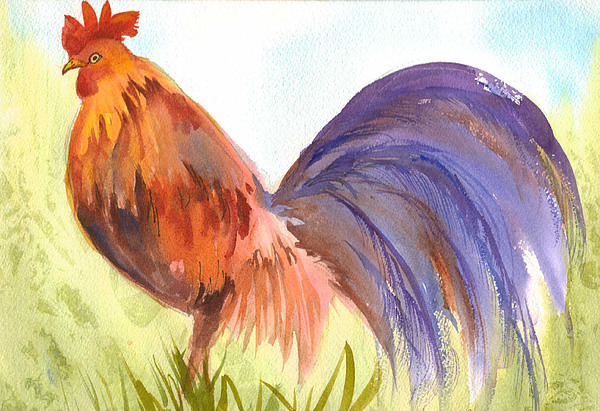 Rooster Painting - Rooster 2 by Ruth Bevan