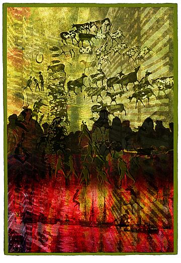 Tribal Digital Art - Roots by Marti Wedewer