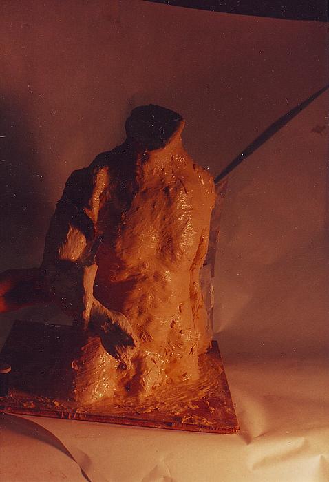 Nude Male Sculpture - Rope Puller by William Zeidlik