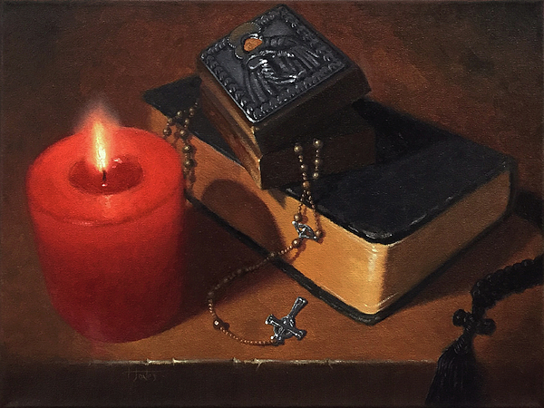 Rosary Painting - Rosary Meditation by Timothy Jones
