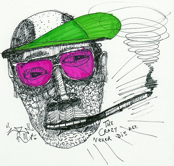 Contemporary Drawing - Rose Colored Glasses by Robert Wolverton Jr