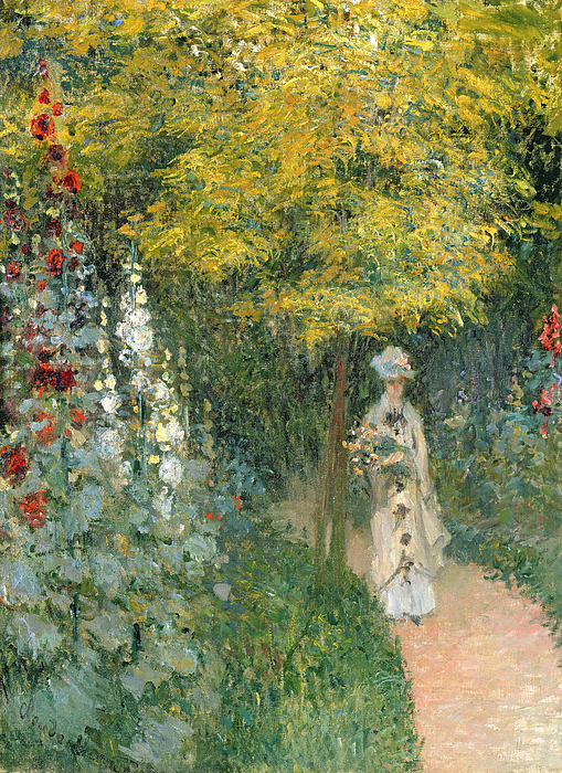 Rose Painting - Rose Garden by Claude Monet