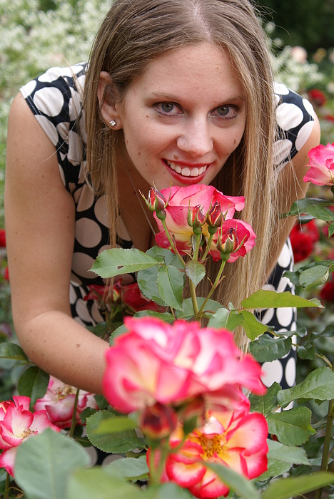 Woman Photograph - Rose Garden by Sonja Anderson