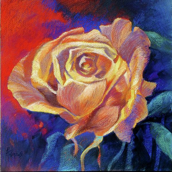 Flower Painting - Rose by Rae Andrews