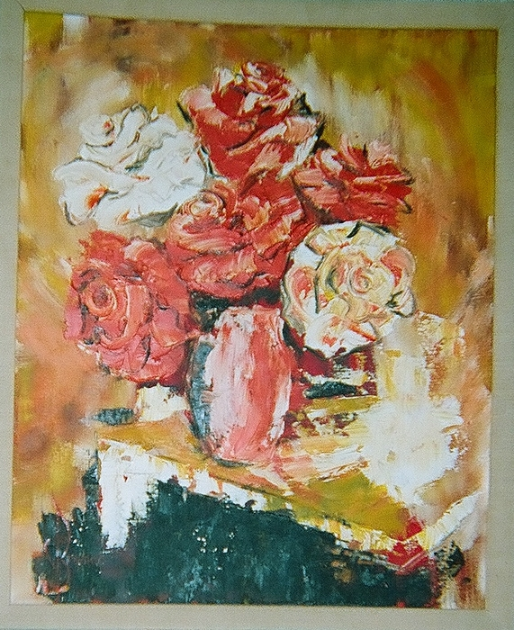 Roses Painting - Roses Ala Mode by Lulu Brymer