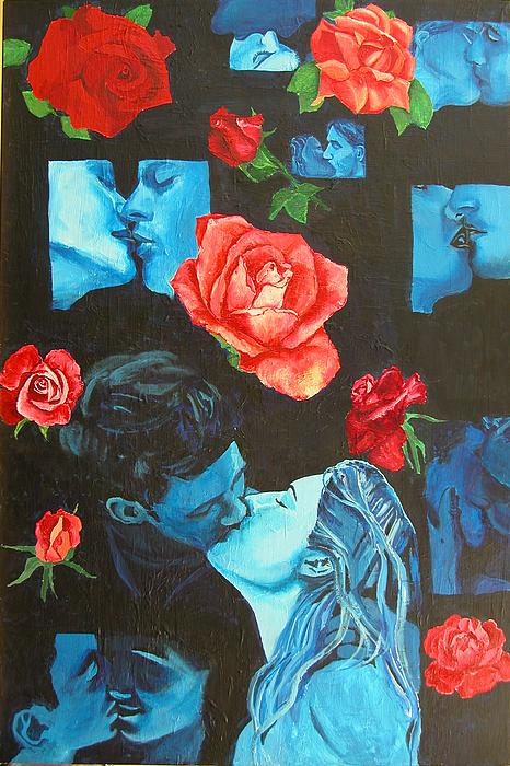 Romance Painting - Roses And Kisses by Susan M Woods