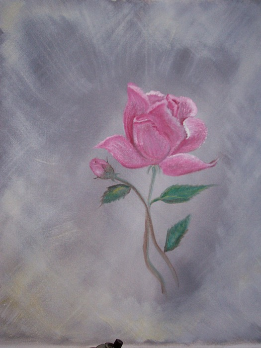 Flowers Painting - Roses From My Garden by Cindy Sellers