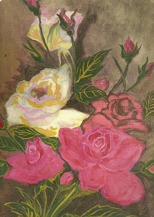 Roses Painting by Iris Devadason