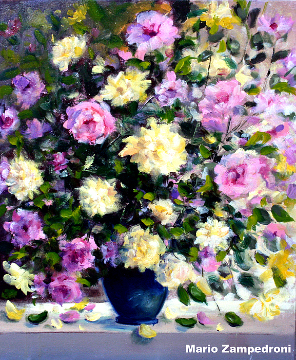Roses Painting - Roses by Mario Zampedroni
