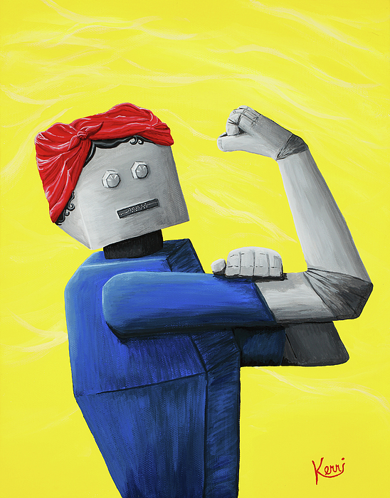 Rosie The Riveter Painting - Rosie- Tempered And Timeless by Kerri Ertman