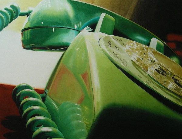 Telephone Painting - Rotary by Denny Bond