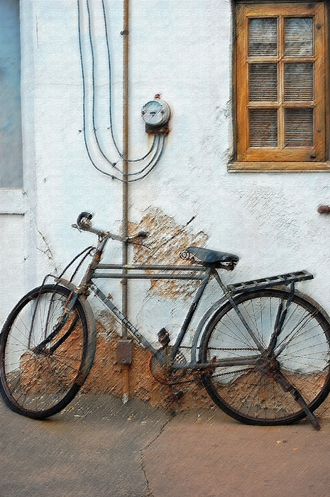Old Bicycle Photograph - Rough Bike by Robert Meanor