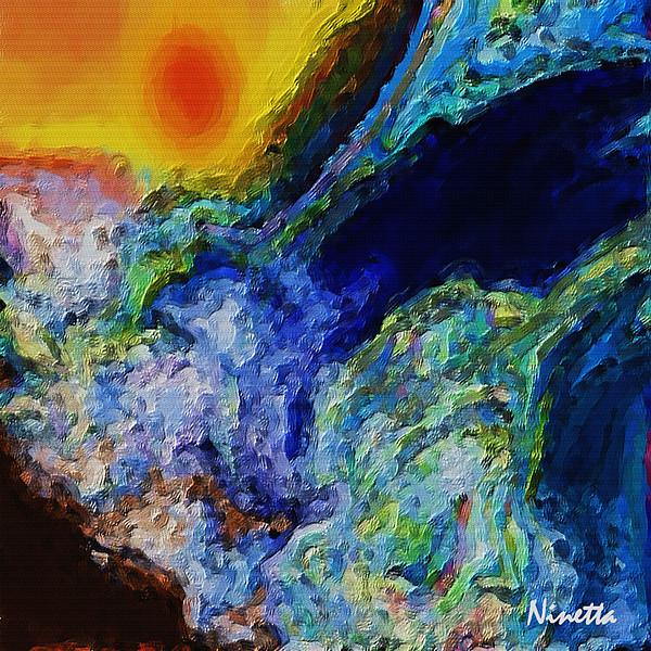 Rough Seas Digital Art - Rough Seas by Andrea N Hernandez