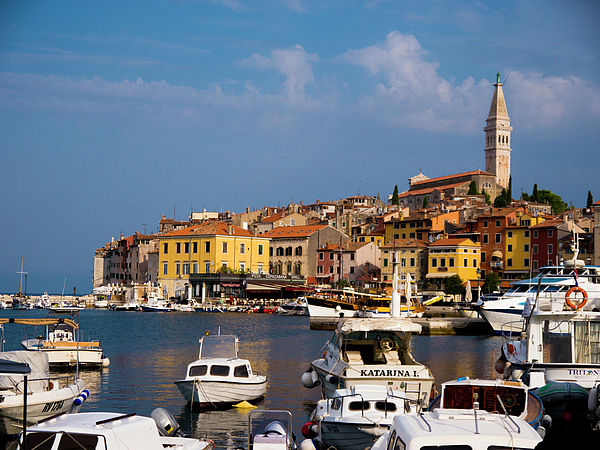 Rovinj Photograph - Rovinj Harbour by Rae Tucker