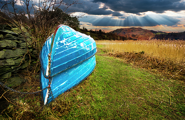 Boat Photograph - Row Boats In Waiting by Meirion Matthias
