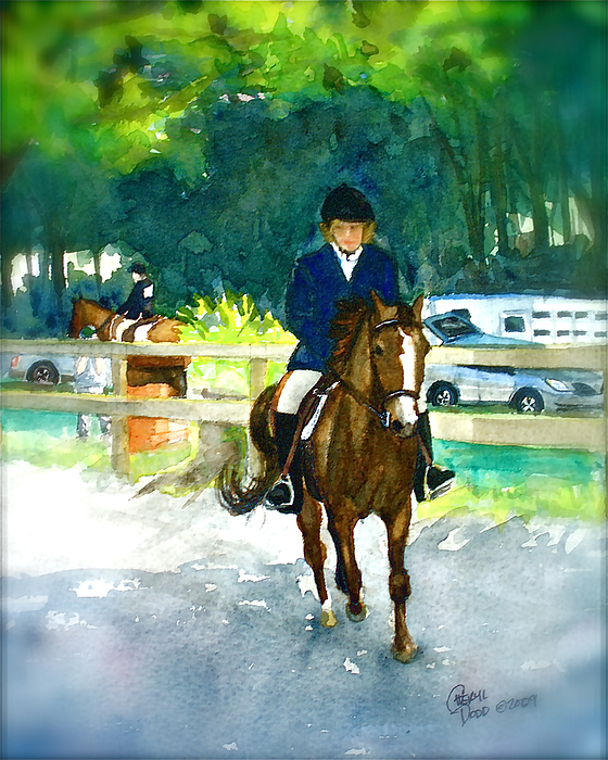 Morgan Painting - Roxy And Prissy by Cheryl Dodd