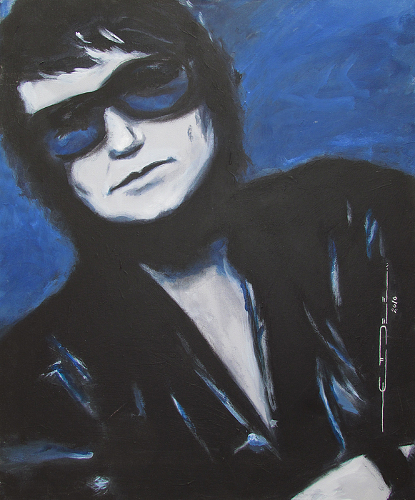 Celebrity Portrait Painting - Roy Orbison In Beautiful Dreams - Forever by Eric Dee