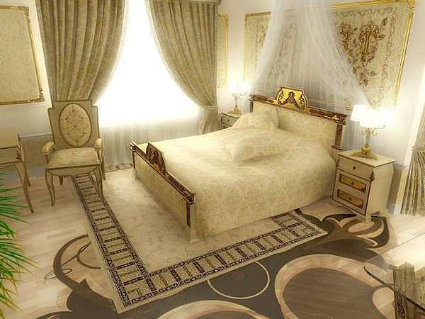 Interior Design Drawing - Royal Kingbed Room Interior Freshly Done December 2007from Collection Of Eng Walid Fahmi  by Walid Fahmy