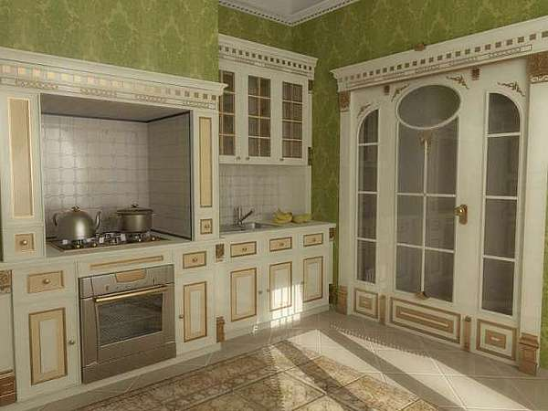 Royal Kitchen Model Called Royal Khofu Designed And Registered For Eng. Walid Fahmi Interiors Drawing by Walid Fahmy