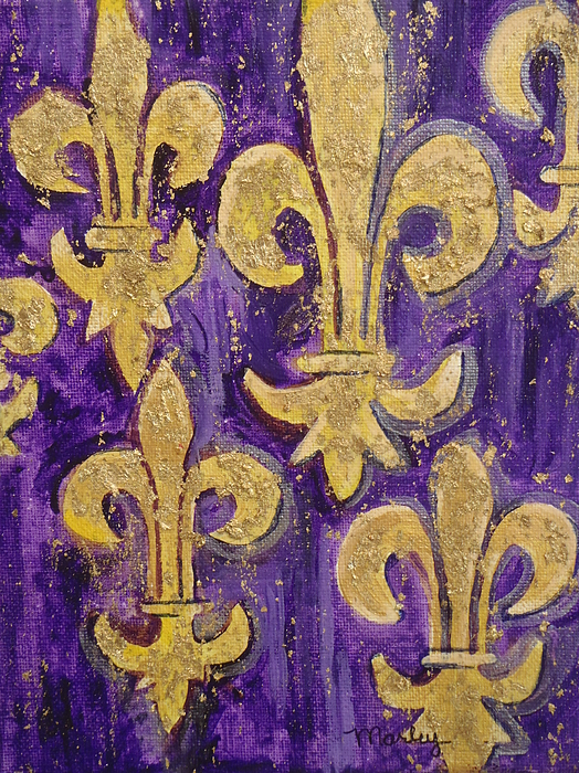 Fleur De Lis Painting - Royale De Lis by Made by Marley