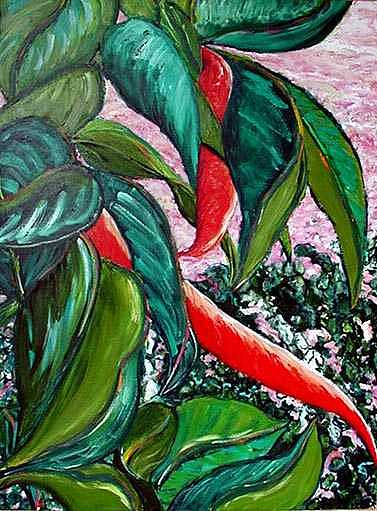 Rubber Tree Painting by Cynthia Fraula-hahn