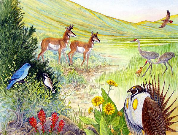 Wildlife Painting - Ruby Lake Uplands by Shari Erickson