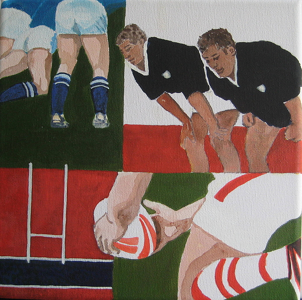 Rugby Painting - Rugby 2 by Pat Barker