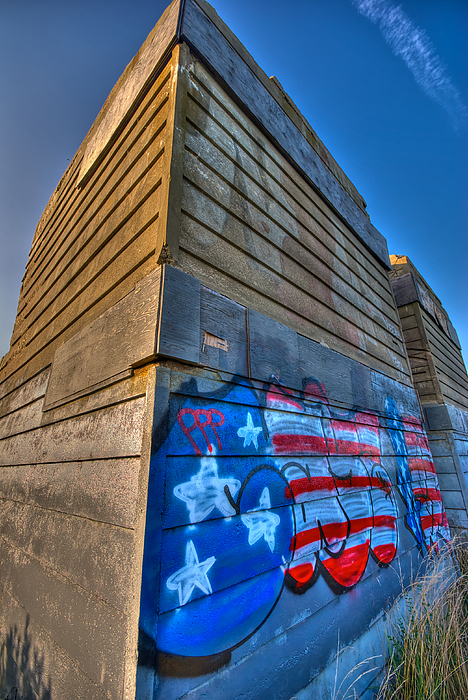 Montauk Photograph - Ruins Graffiti by Mike Horvath