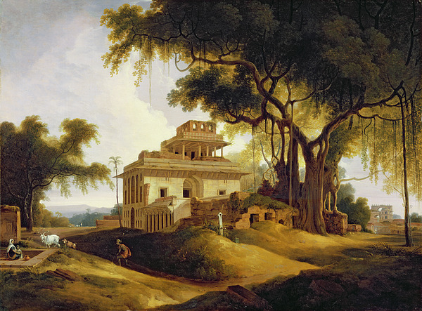 Ruins Painting - Ruins Of The Naurattan by Thomas Daniell