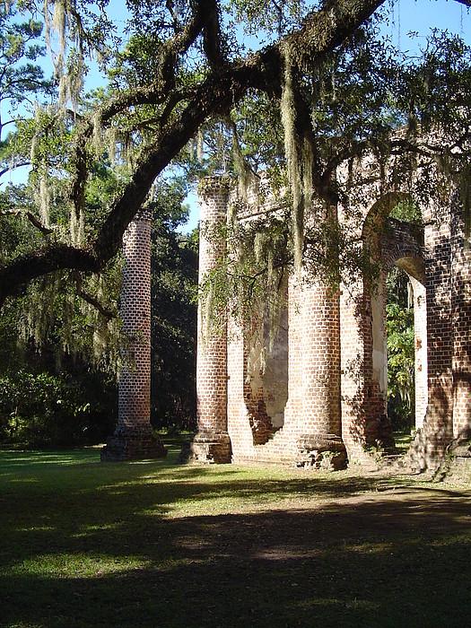 Church Photograph - Ruins Of The Old Sheldon Church by Richard Marcus