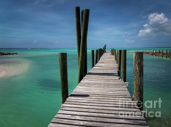 Bahamas Photograph - Rum Cay Marina Jetty In Bahamas by Jola Martysz