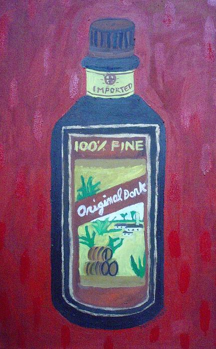 Oil On Canvas Painting - Rum by Patrice Tullai