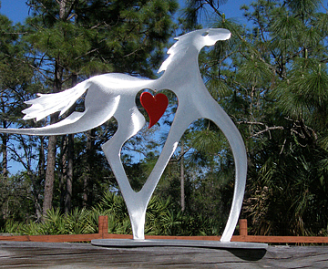 Horse Sculpture - Running Free by Mindy Colton
