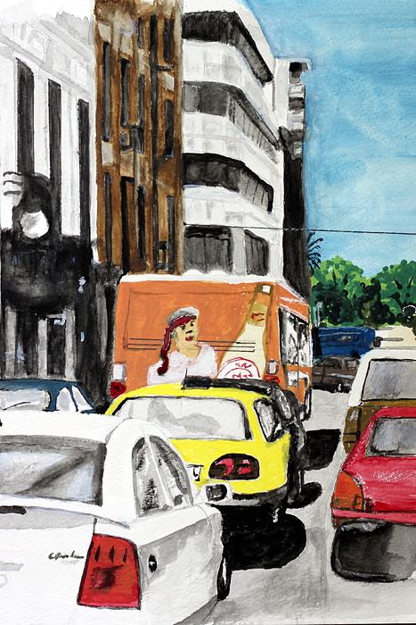 Rush Hour Painting by Cathy Jourdan