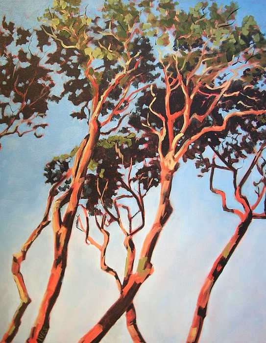 Arbutus Tree Painting - Russel Point 1 by Jean Ives