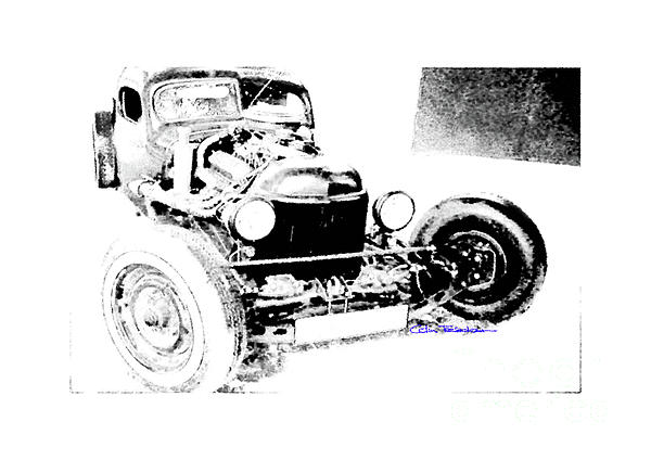Rat Rod Digital Art - Russian Rat Rod by MOTORVATE STUDIO Colin Tresadern