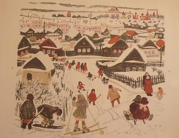 Russian Winter. Pereslavl-zalesskiy Drawing by Kalincheva Klara