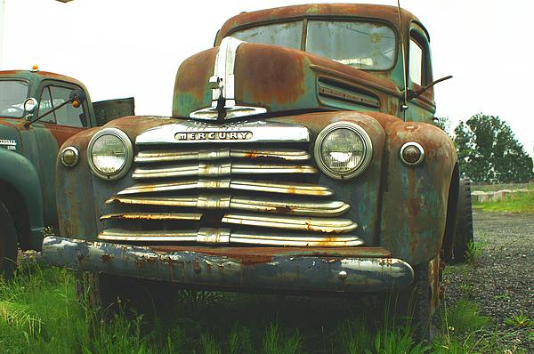 Old Cars Photograph - Rustic Mercury by Randy Harris
