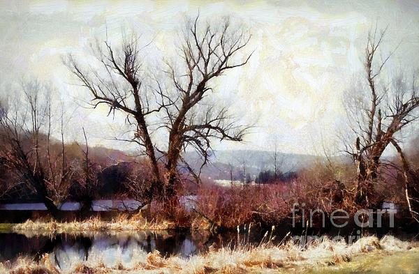 Mountains And Lake Photograph - Rustic Reflections by Janine Riley