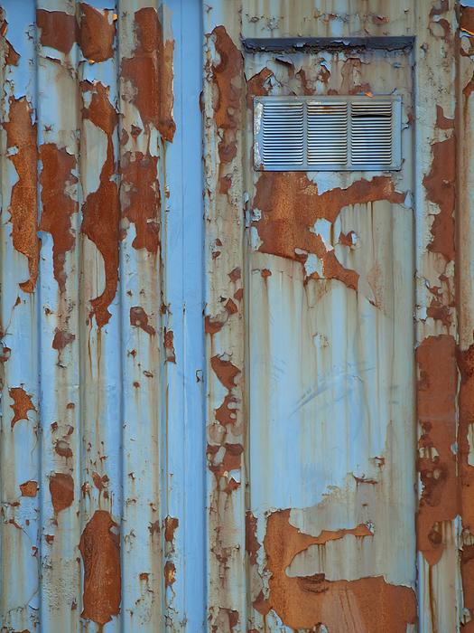 Rusty Blue Door Photograph by Robert Gebbie